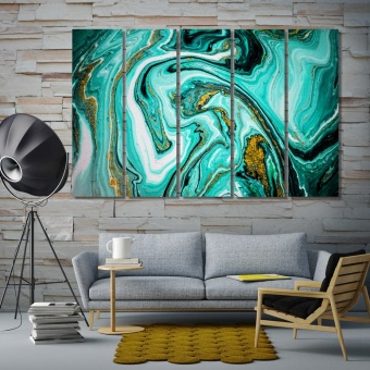 Trendy marble pattern wall canvas decor, abstract art wall