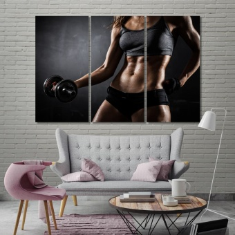 Gym wall decor and home accents, fitness canvas art work