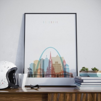 Saint Louis wall art print, ‎Missouri office wall art