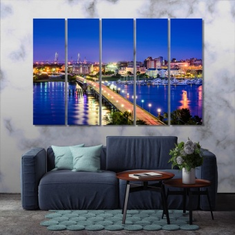 Charleston wall art for home, South Carolina art printing on canvas