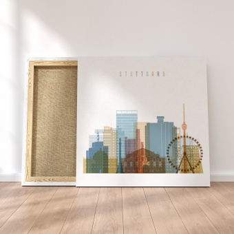 Stuttgart framed canvas wall art, Germany fashion wall decor