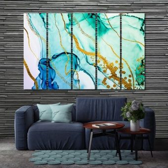 Paint stains abstract wall decor, marble abstract canvas prints art