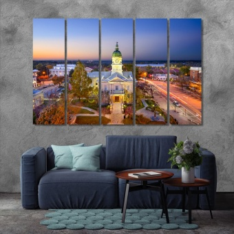 City Hall in Downtown Athens print canvas art, state of Georgia art