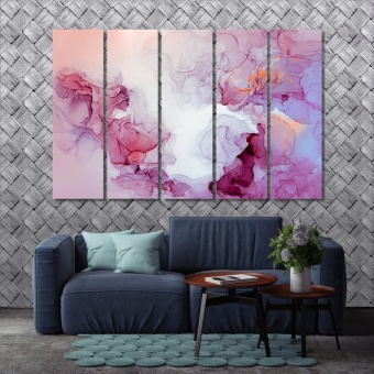 Watercolor marble abstract dining room wall decorations