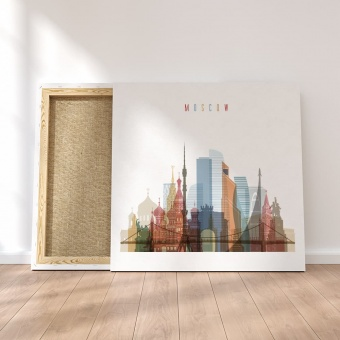 Moscow canvas artwork, ‎Russia home goods wall decor