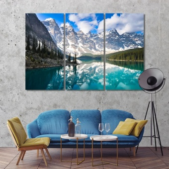 Moraine Lake in Banff National Park canvas prints art, Canada artwork