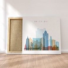 Bangalore canvas wall decor
