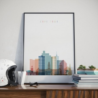 Cape Town wall decor poster, South Africa city wall art