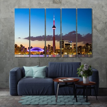 Toronto cityscape during sunset, ‎Canada canvas prints art