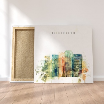 Birmingham canvas art prints, Alabama art for home