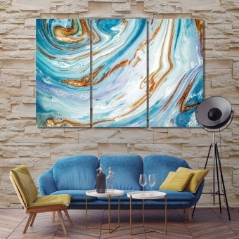 Paint flowing abstract wall decor ideas for living room