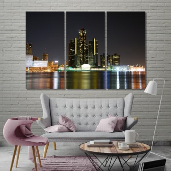 Detroit canvas wall art sets, Michigan decoration wall
