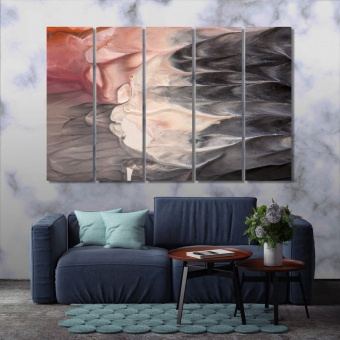 Gouache painting abstract art wall decor canvas prints