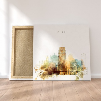 Pisa canvas wall pictures, Italy watercolor drawing
