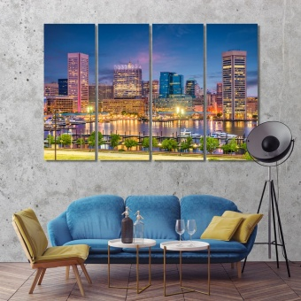 Baltimore wall art canvas prints, Maryland large artwork for walls