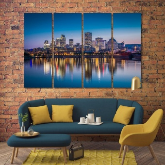 Montreal paintings for home, ‎Canada framed wall decor