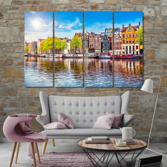 Amsterdam wall art paintings, ‎Netherlands modern artwork