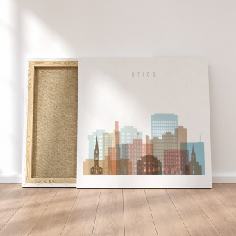 Utica canvas wall pictures, New York artwork for offices