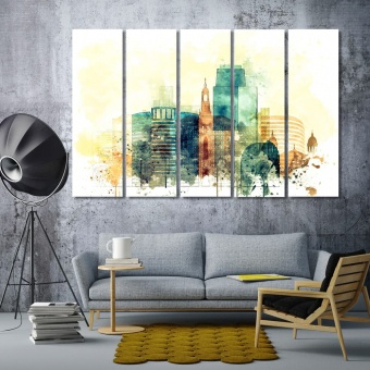 San Jose art for living room, California print canvas art