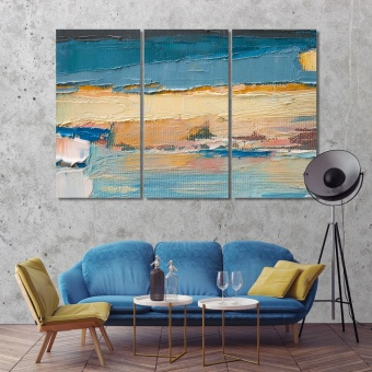 Oil painting with brush strokes art prints on canvas
