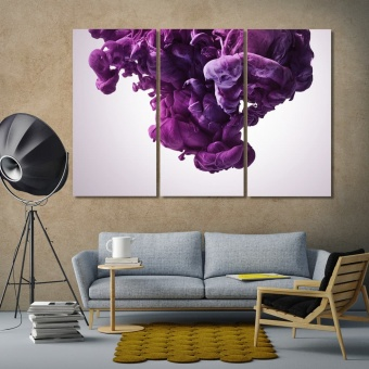 Purple paint splash abstract art modern wall decorations
