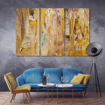 Abstract autumn color oil painting home wall decorations