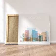Atlantic City canvas decor