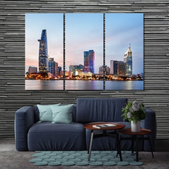 Ho Chi Minh City pictures for living room, Vietnam canvas wall decor
