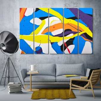 Abstract acrylic modern painting artwork for the home