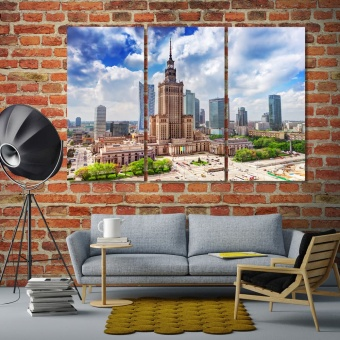 Warsaw living room wall decor ideas, Poland print canvas art