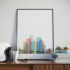 Miami home decor print, Florida artwork for the office