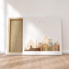 Giza canvas wall decor