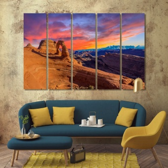 Arches National Park print canvas art, Utah wall home decor