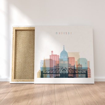 Madison canvas decor, Wisconsin wall art canvas prints