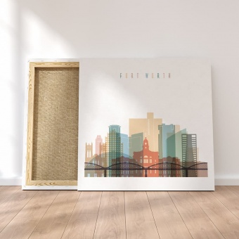 Fort Worth canvas decor, ‎Texas wall art canvas prints