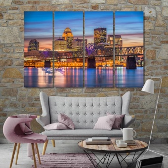 Louisville artwork for living room, Kentucky canvas wall decor