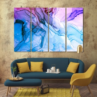 Watercolor abstract artistic prints on canvas, abstract art wall decor