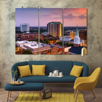 Tallahassee wall art for home, Florida canvas wall decor