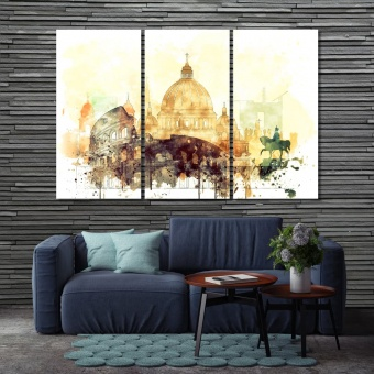 Rome living room wall decoration ideas, Italy home wall art