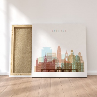 Dresden canvas wall decor, Germany living room canvas