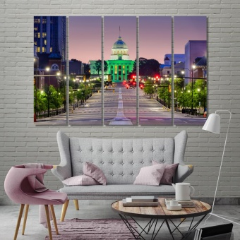 Montgomery wall pictures for dining room, Alabama canvas prints art