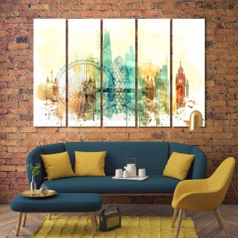 London art prints on canvas, England house wall decor