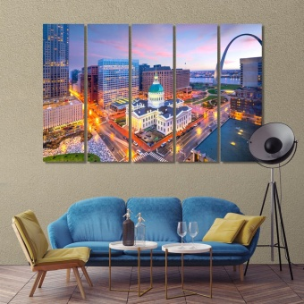Saint Louis art deco wall art, ‎Missouri canvas wall pictures