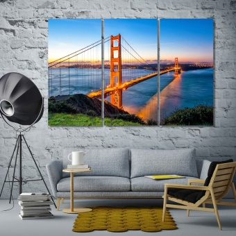 Golden Gate Bridge canvas art prints, San Francisco artwork for walls