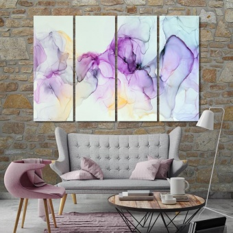 Watercolor abstract large contemporary wall art decor