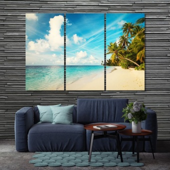 Tropical sand beach home interior pictures wall decor