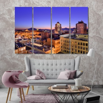 Roanoke canvas art prints, Virginia city landscape
