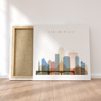 Indianapolis canvas wall art, Indiana dining wall art