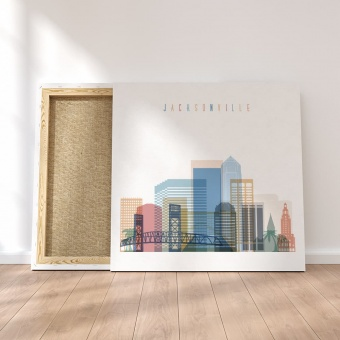 Jacksonville canvas decor, Florida wall art canvas prints