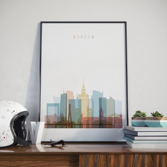 Warsaw art print, Poland wall pictures for living room